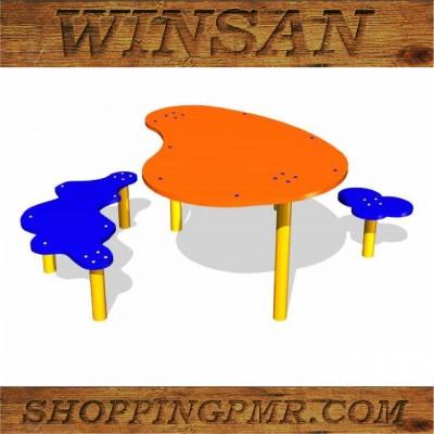 Столик со скамейками STD_90