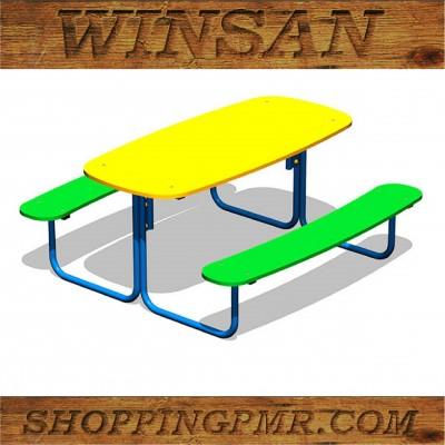 Столик со скамейками STD_194