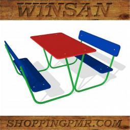 Столик со скамейками STD_201